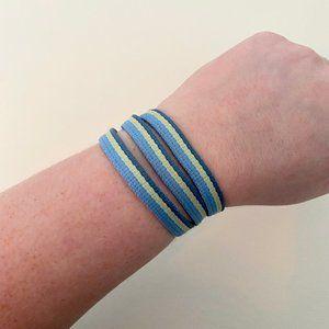 CHACO Reversible Wrap Bracelet in Green + Blue